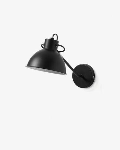 Offelis wandlamp zwart