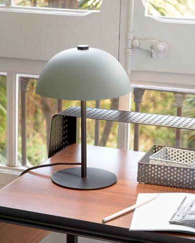 Metalen tafellamp Aleyla met groene afwerking