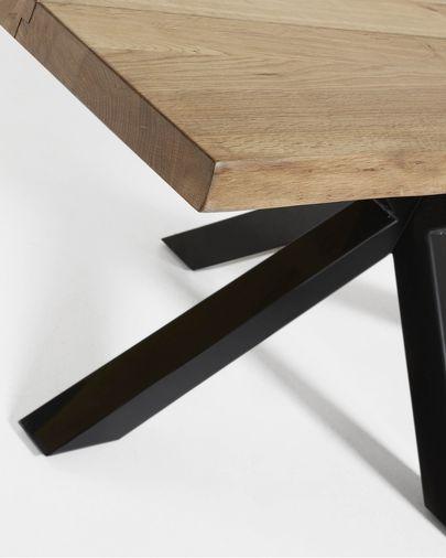 Argo table 180 cm natural oak black legs