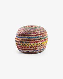 Multicolor Saht pouf Ø 50 cm