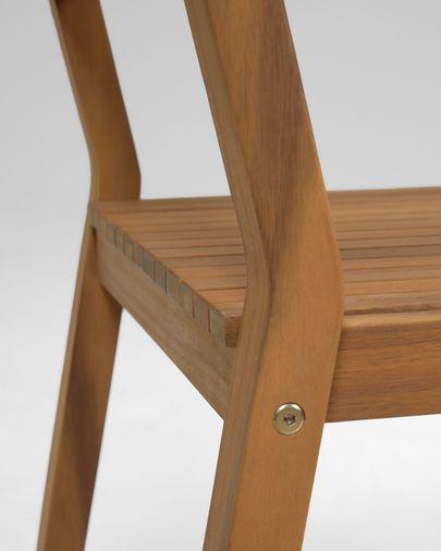 Cadira d'exterior Emili fusta massissa acàcia