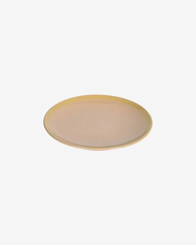 Tilla ceramic dessert plate in beige
