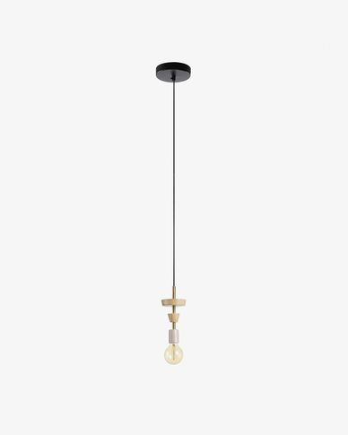 Lampe suspension Naroa blanc