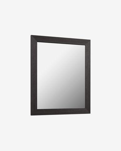 Specchio Nerina con cornice 47 x 57,5 cm con finitura scura