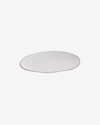 Assiette à dessert Manami petit en céramique blanc