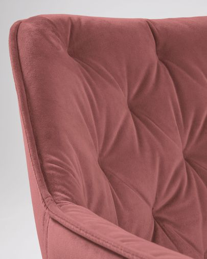 Cadira Mulder vellut rosa