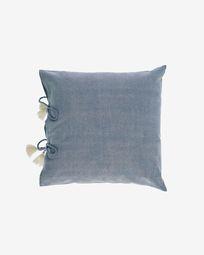 Varina 100% cotton cushion cover in grey 45 x 45 cm