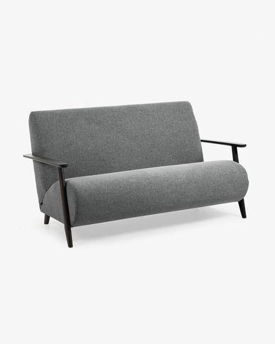 Sofà Meghan 2 places gris fosc 145 cm