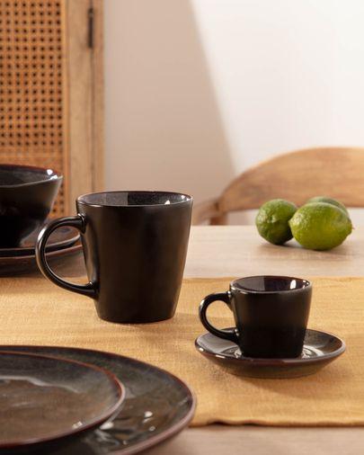 Odile Espresso Tasse mit Unterteller, dunkelblau