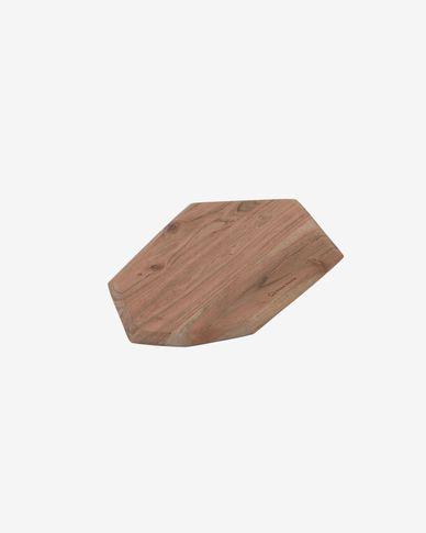 Deska do serwowania Romina w kształcie sześciokąta z litego drewna akacjowego