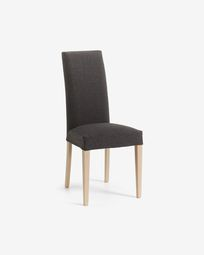 Freda chair graphite and natural
