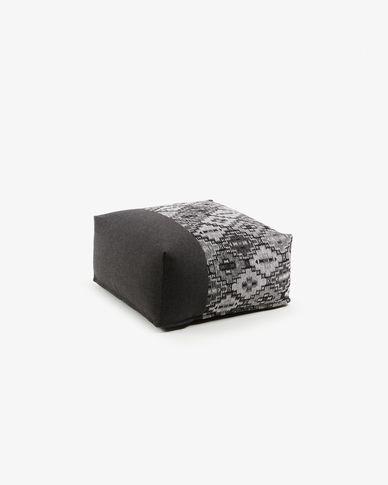 Pouf Nazca 70 x 70 cm grigio scuro
