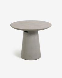 Table de jardin Itai en ciment de Ø 90 cm