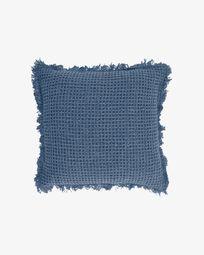 Capa almofada Shallow 100% algodão azul 45 x 45 cm