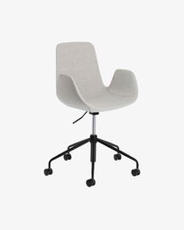 Yolanda light grey office chair