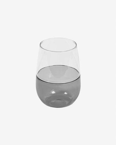 Bicchiere grande Inelia trasparente e vetro grigio