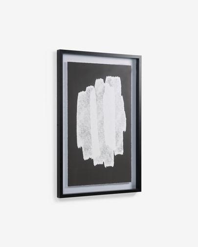 Cuadro Moad blanco y negro 60 x 90 cm