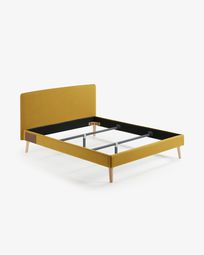 Yellow-mustard Dyla bed cover 150 x 190 cm