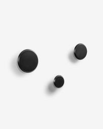 Set Nadua di 3 appendiabiti nero
