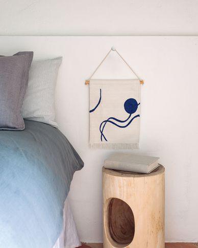 Gobelin ścienny Atal niebieskie figury 28 x 34 cm