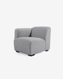 Posto a sedere con bracciolo sinistra Legara grigio 80 cm