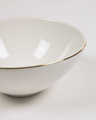 Taisia medium bowl in white