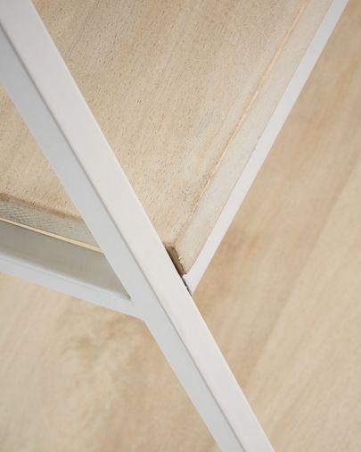 Estantería Push de madera maciza de mango y acero blanco 100 x 180 cm