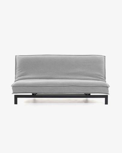 Sofá cama Eveline 195 cm gris estructura metal