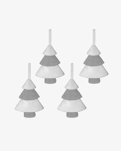 Clemons set van 4 kerstboomversieringen