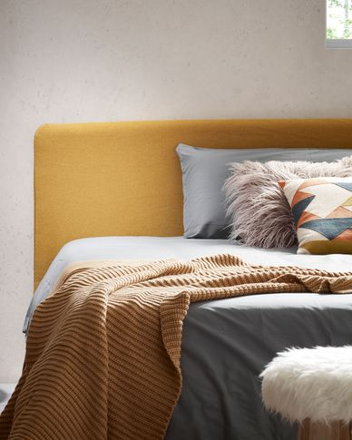 Dyla bed 90 x 190 cm mustard