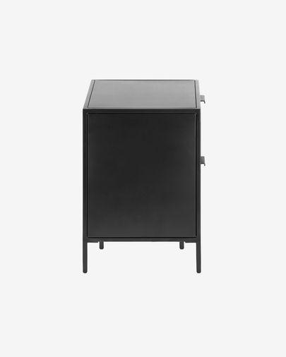 Shantay Nachttisch 40 x 50 cm aus Stahl mit schwarzem Finish