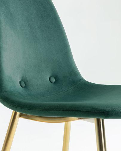 Yaren green velvet chair