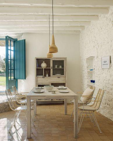 Alen Tisch aus massivem Akazienholz 160 x 90 cm