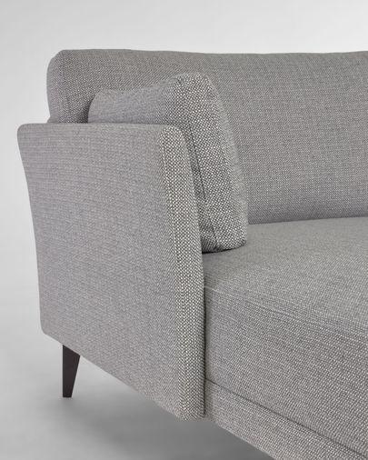 Sofà Gilma 3 places amb chaise longue esquerre gris potes metall negre 260 cm