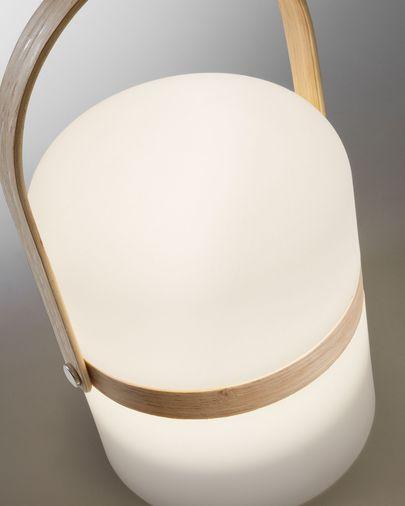 Làmpada de sobretaula LED Ridley polietilè i fusta de faig