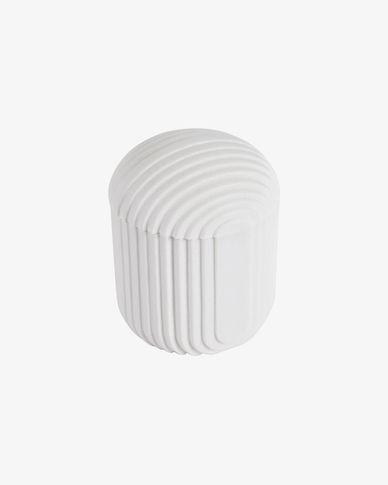 Ateneas white polyresin jar
