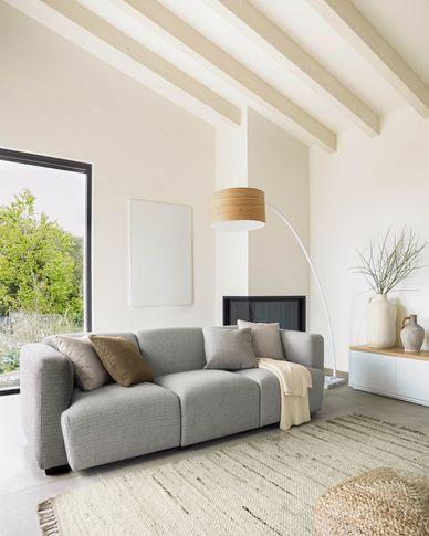 Legara 3-seater sofa in light grey 222 cm