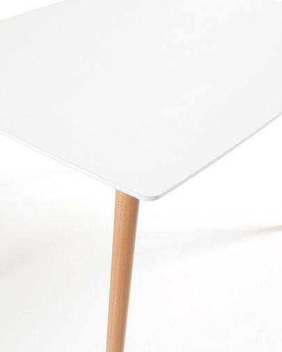 Mesa Wad 120 x 75 cm cm lacado blanco patas de madera maciza de haya