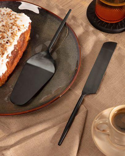 Fer 2-piece cutlery set for cake black