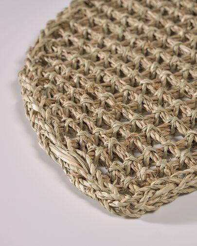 Paillasson d'entrée semicirculaire Yariela fibres naturelles 60 x 35 cm