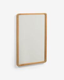 Espejo Shamel de madera maciza de teca 45 x 70 cm