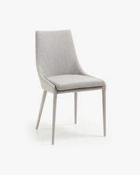 Cadeira Davi pele sintética cinza claro