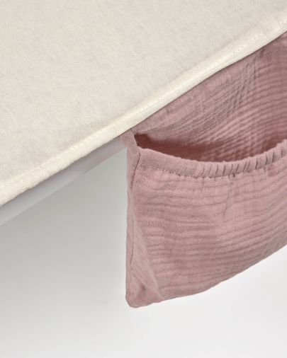 100% organic cotton (GOTS) Jeila travel changing mat in pink