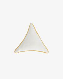 Fresia white triangular cushion