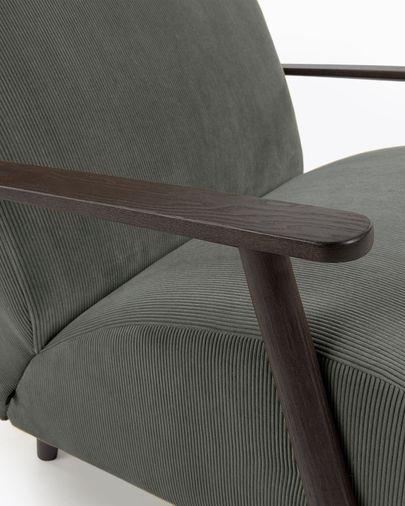 Meghan fauteuil corduroy donkergrijs