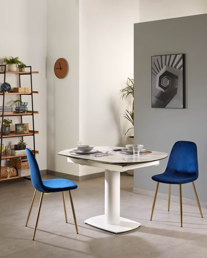 Cadira Yaren vellut blau