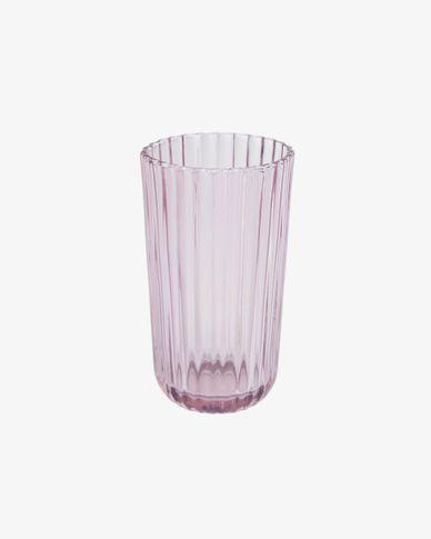 Copo grande Savelia em vidro rosa-claro