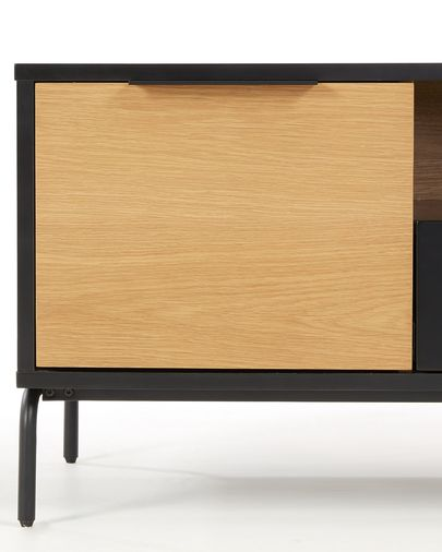 Mueble TV Savoi con chapa de roble 120 x 50 cm