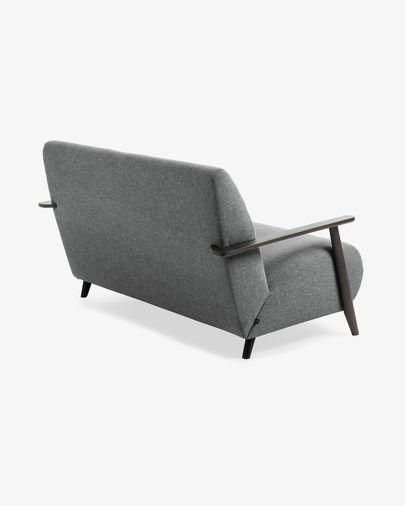 Divano Meghan 2 posti grigio scuro 145 cm