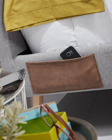 Dyla bed 90 x 190 cm light grey